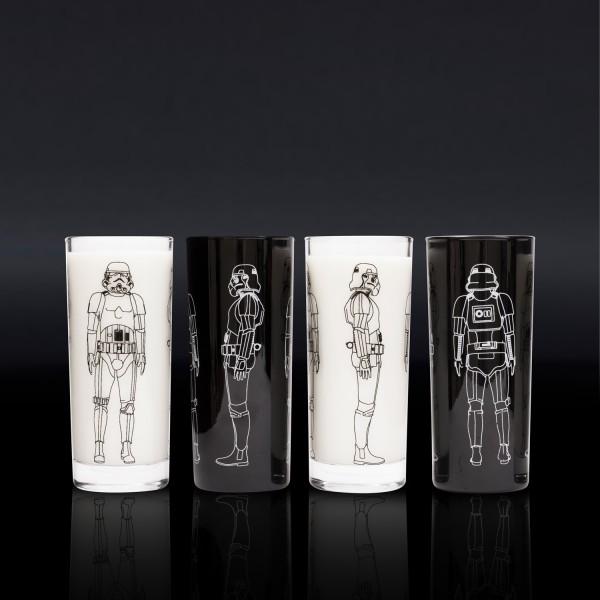 Original Stormtrooper - 4 Trinkgläser (2x schwarz, 2x klar) - ca. 300ml