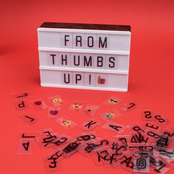 LED Retro Leuchtkasten Lightbox A6 Cinematic Kino inkl 90 Buchstaben und Zeichen
