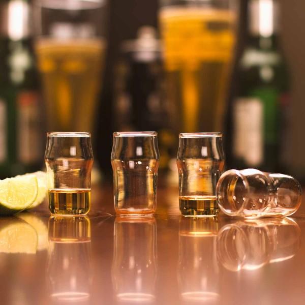 Schnapsgläser Pint Shot aus Glas im 4er-Set 30ml