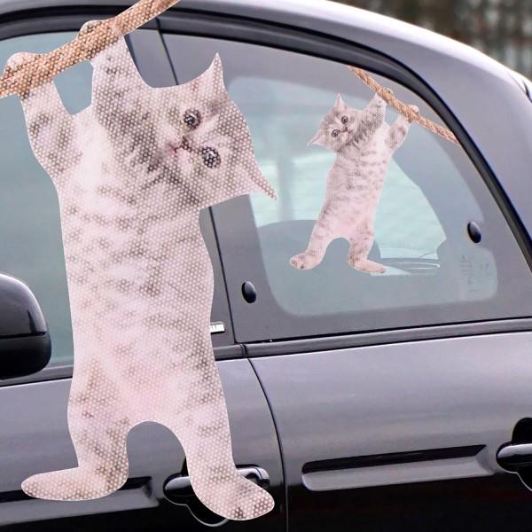 Ride With a Cat Auto-Scheibenaufkleber Katze Fenstersticker 31x24cm