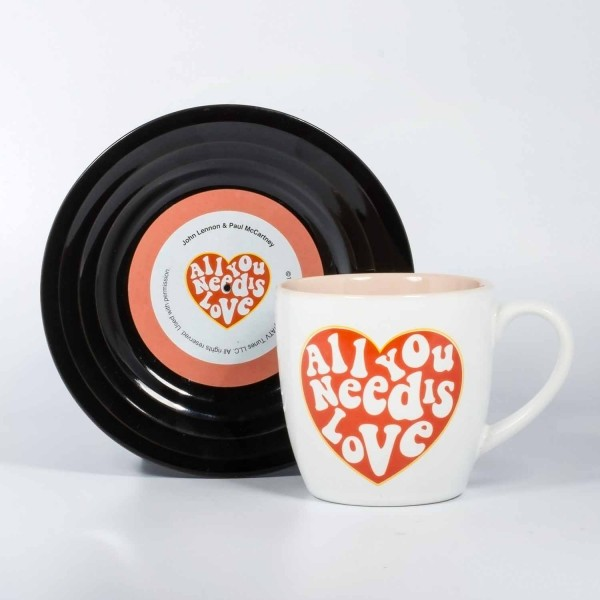 Tassen-Set -Lyrical Mug- Love -Lennon & McCartney- Unterrasse im Vinyl Look