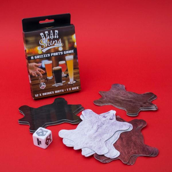 Trinkspiel - Untersetzer - A Grizzly Party Game - inkl. Würfel
