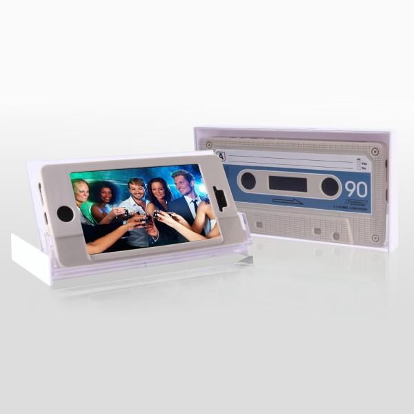 Retro Kassetten Cover weiß für iPhone 5 5S SE