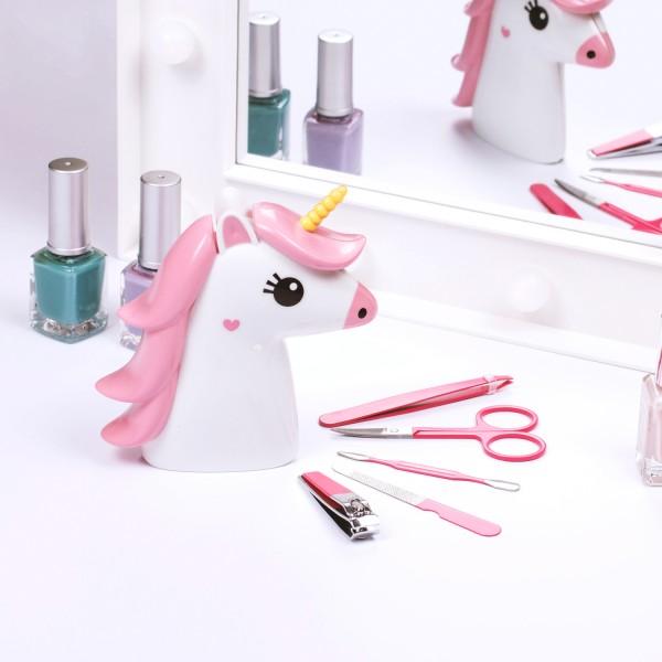 5-teiliges Nagelpflegeset mit Einhornetui
