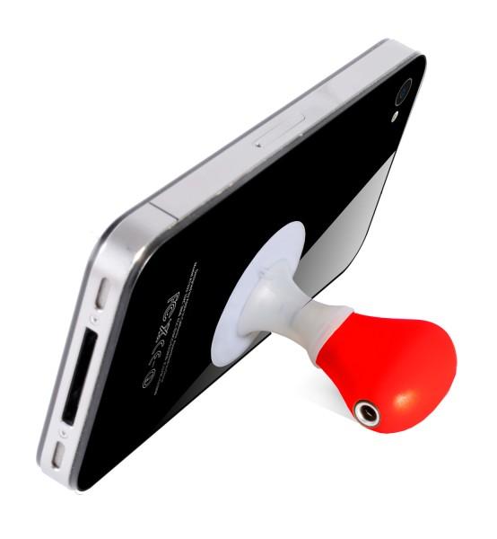 Handyhalter mit Audio-Splitter - Saugnapf Ständer - Thumbs Up