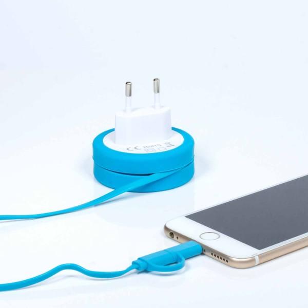 """2in1 Ladekabel """"Yo-Yo"""" Lightning und Micro USB - Nie wieder Kabelsalat"""