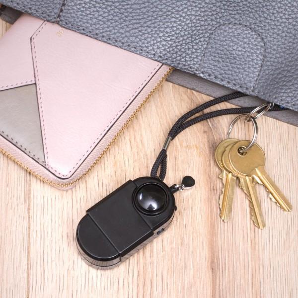 Taschenalarm SAFEGUARD DEVICE mit akustischem Alarm und LED Licht