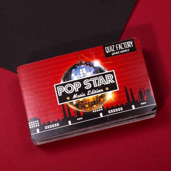 Kartenquiz -Pop Star- Spiel Gesellschaftsspiel Quiz