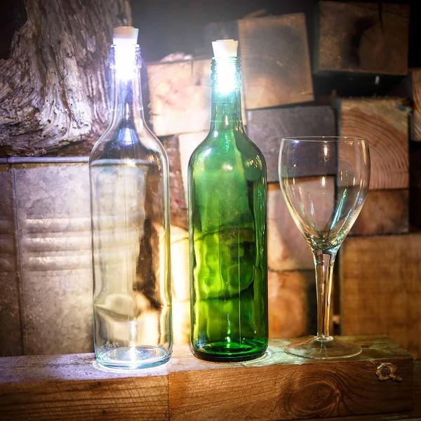 LED Flaschenlicht leuchtende Korken, 2er-Set