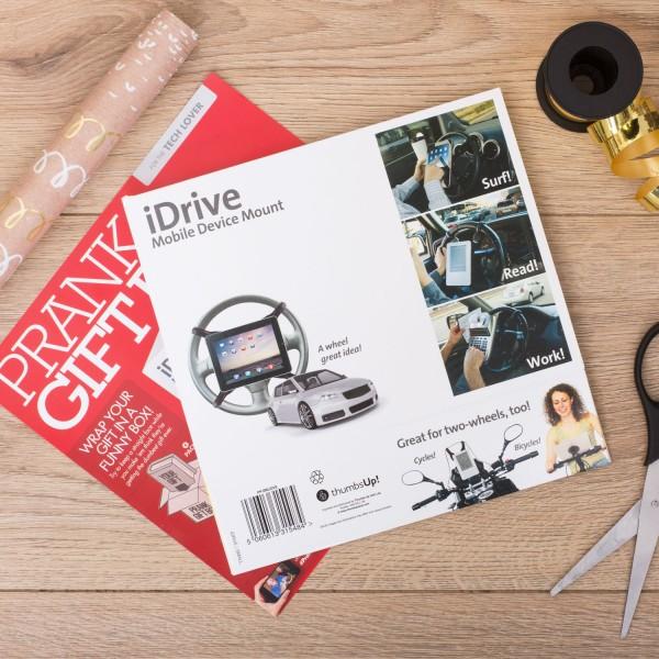 Prank Pack Small Scherz-Geschenkverpackung - iDrive Lenkrad Handyhalterung