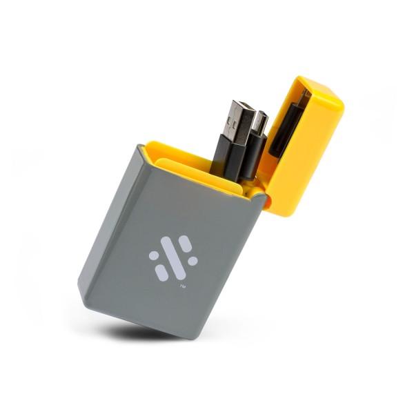 Ausziehbares 3-in-1 Ladekabel - Gelb