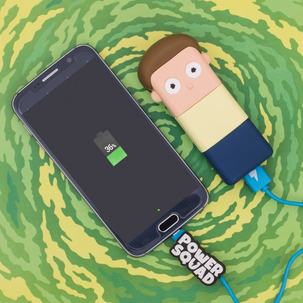 PowerSquad - Sammelfigur und Powerbank CN Morty - Cartoon Network