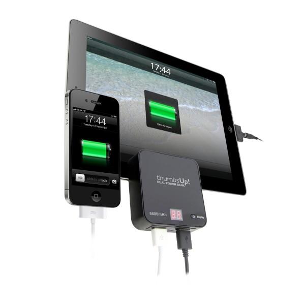 Dual Power Bank - 6600mAh (Schwarz)