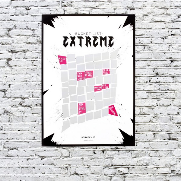 Scratch Poster - Extreme - to do Liste zum Freirubbeln