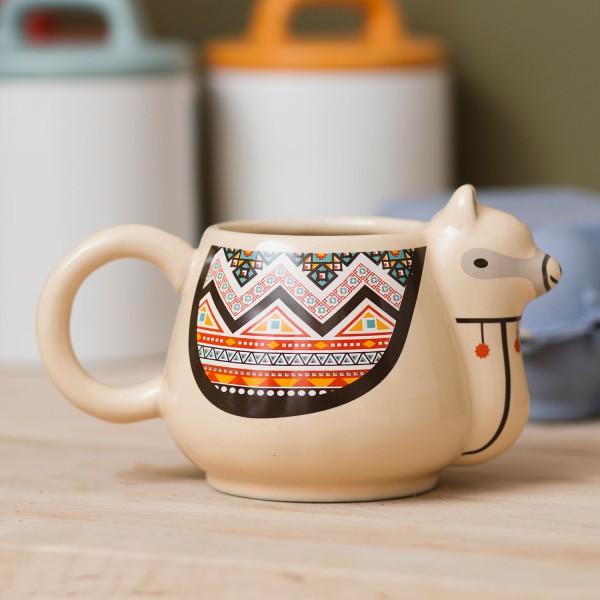 Lama Tasse Südamerikanisches Flair für Schreibtisch Becher Keramik 300ml