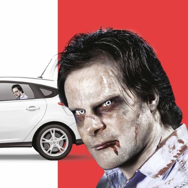 Ride With a Zombie Auto-Scheibenaufkleber Fenstersticker 43x29cm