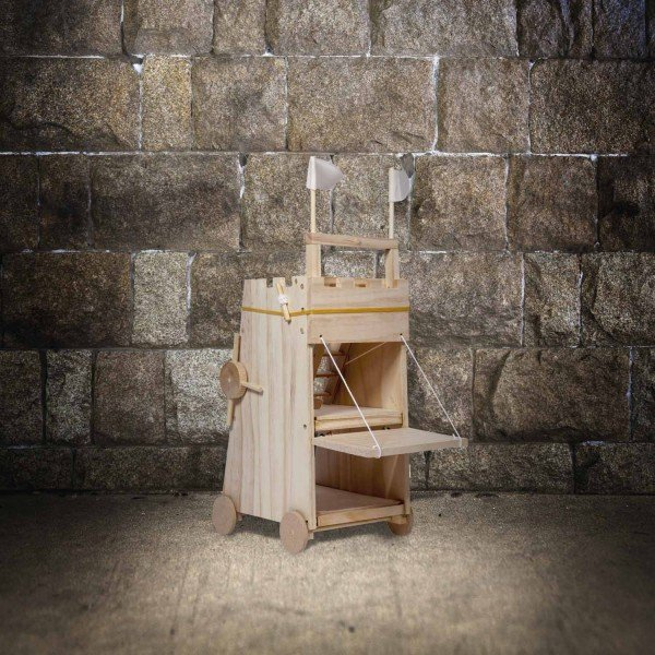 Belagerungsturm Mittelalter Funktionsmodell aus Holz diy do it yourself