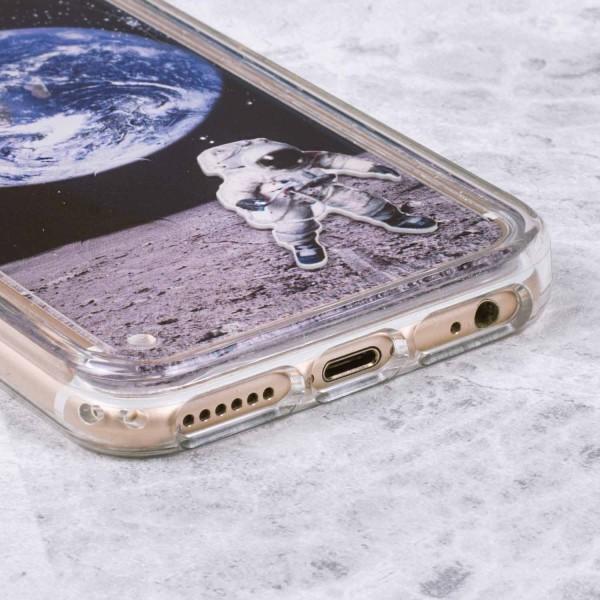 Schwebender Astronaut - Case für iPhone 6/6S/7 Weltraum Space Erde Mond Hülle