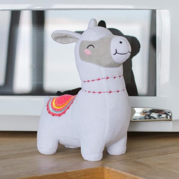 Wärmekuscheltier für die Mikrowelle - Lama